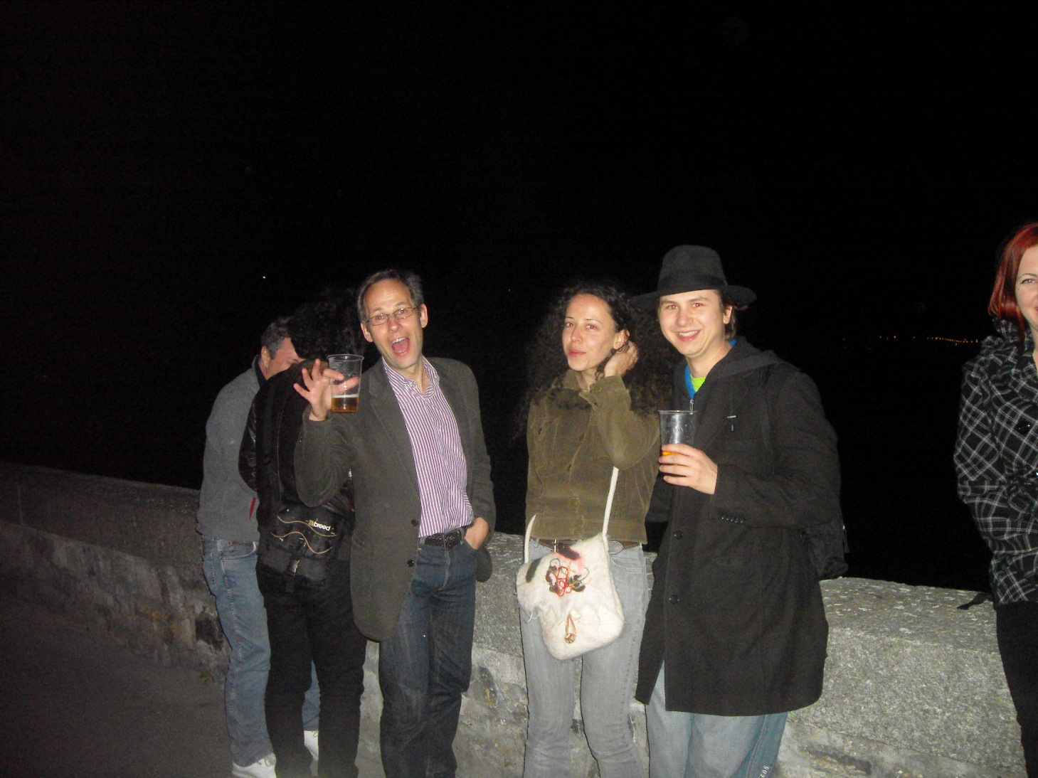 Night out on the town by Lake Geneva