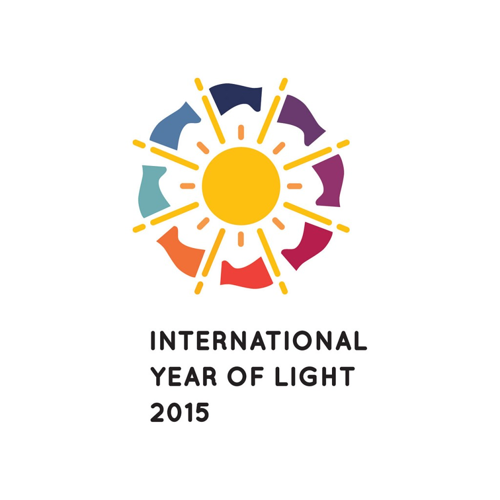 Logo of the International Year of Light 2015 (vertical)